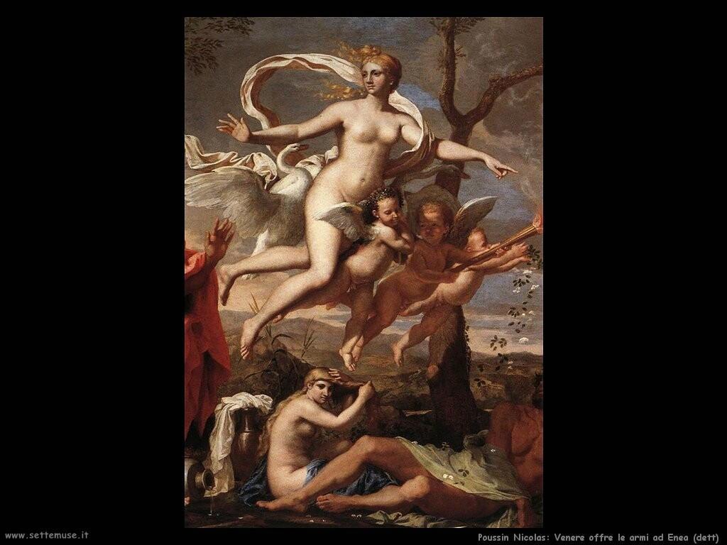 poussin nicolas  Venere offre le armi ad Enea (dett)