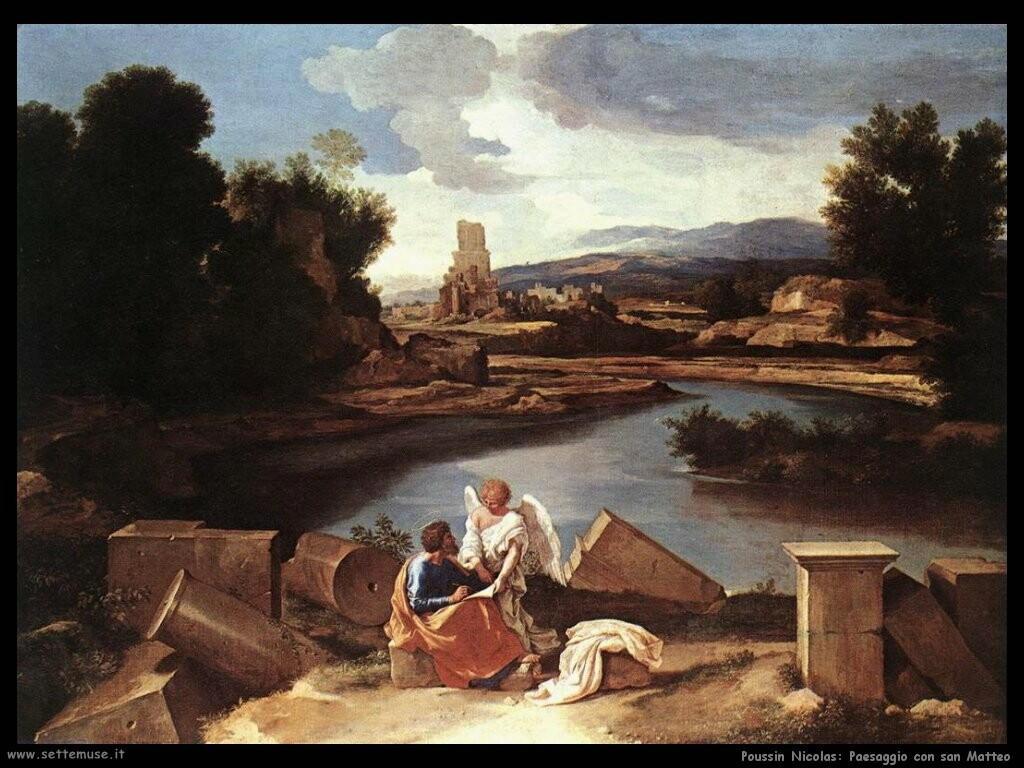 poussin nicolas Paesaggio con san Matteo