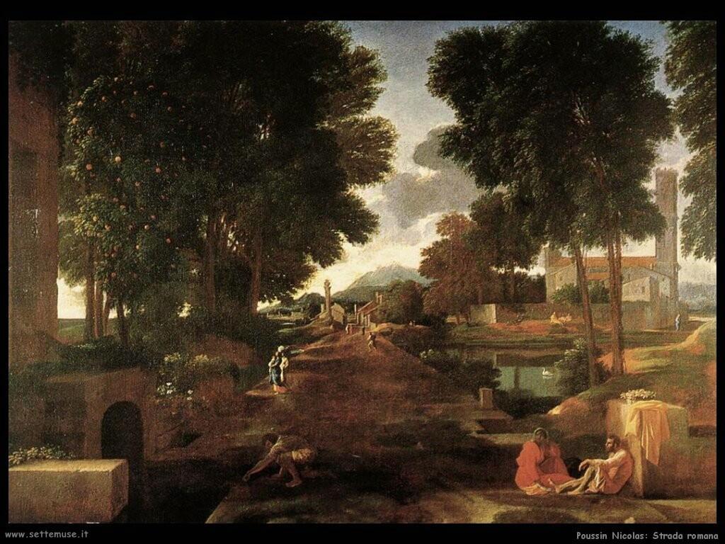 poussin nicolas Una strada romana