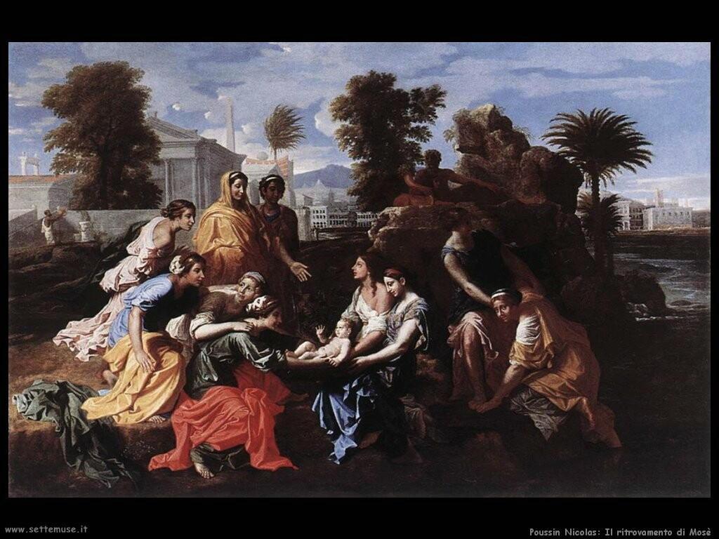 poussin nicolas Il ritrovamento di Mosè