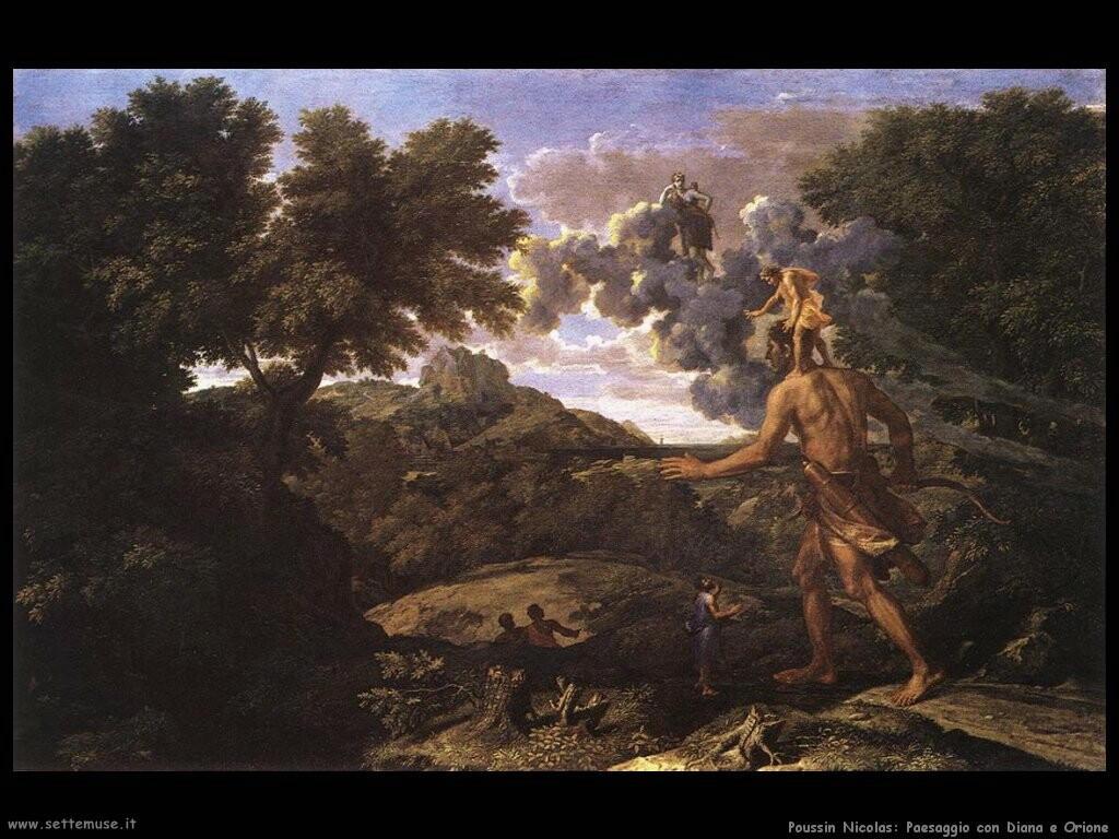 poussin nicolas  Paesaggio con Diana e Orione