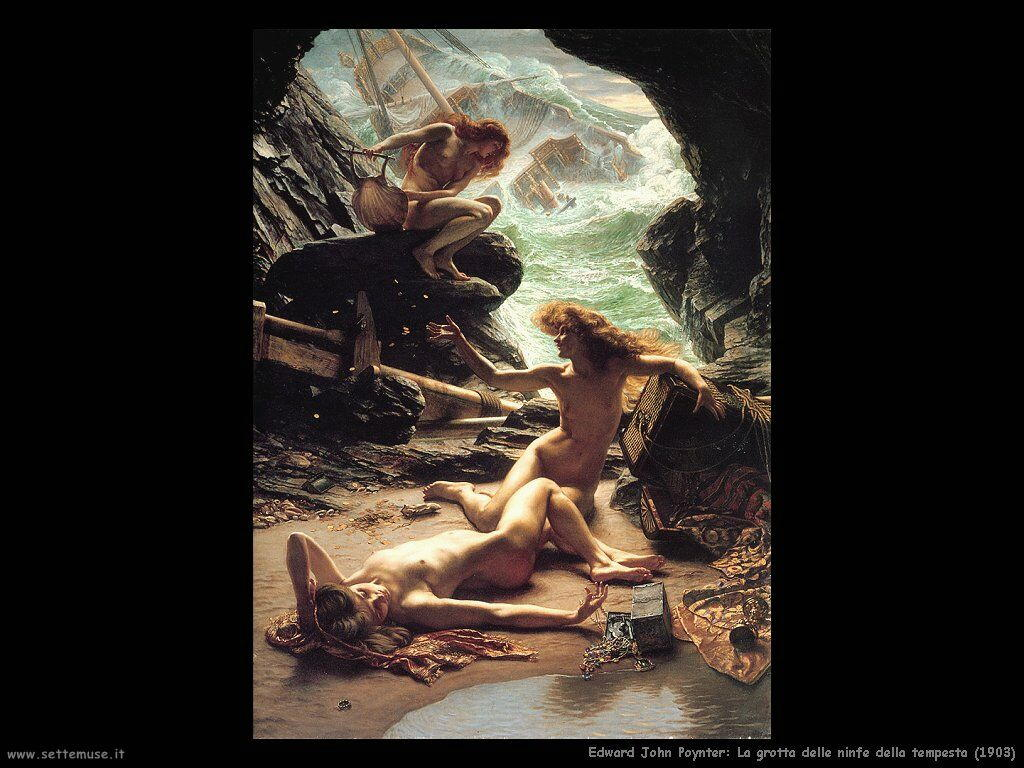 edward_john_poynter La grotta delle ninfe della tempesta (1903)
