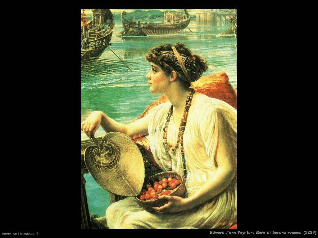 edward_john_poynter_gara_di_barche_romane_1889