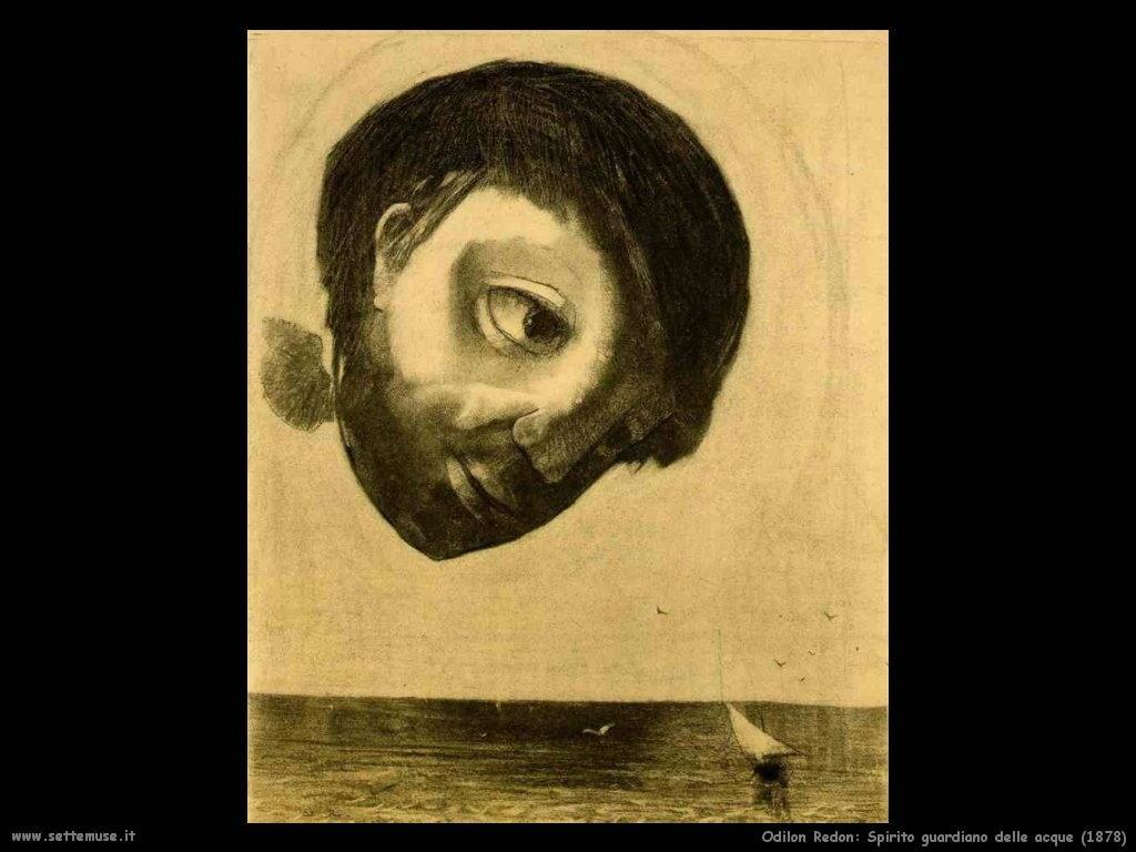 Odilon Redon_spirito_guardiano_delle_acque_1878