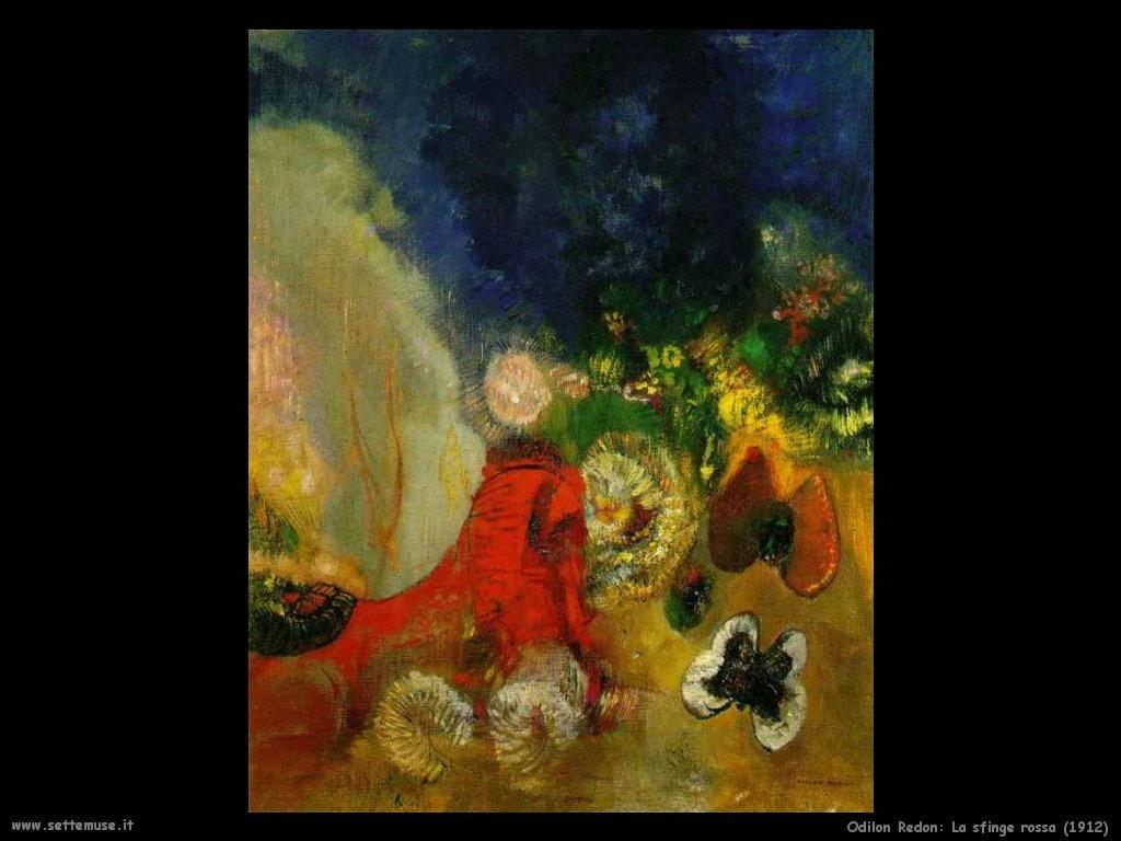 Odilon Redon_la_sfinge_rossa_1912