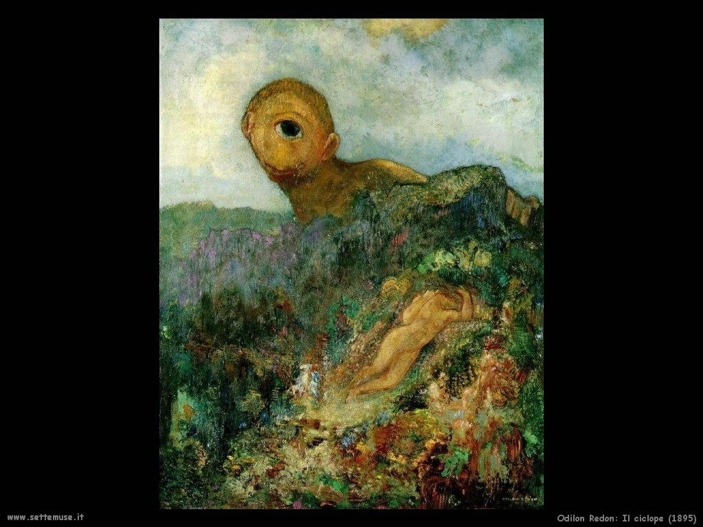 Odilon Redon_il_ciclope_1895