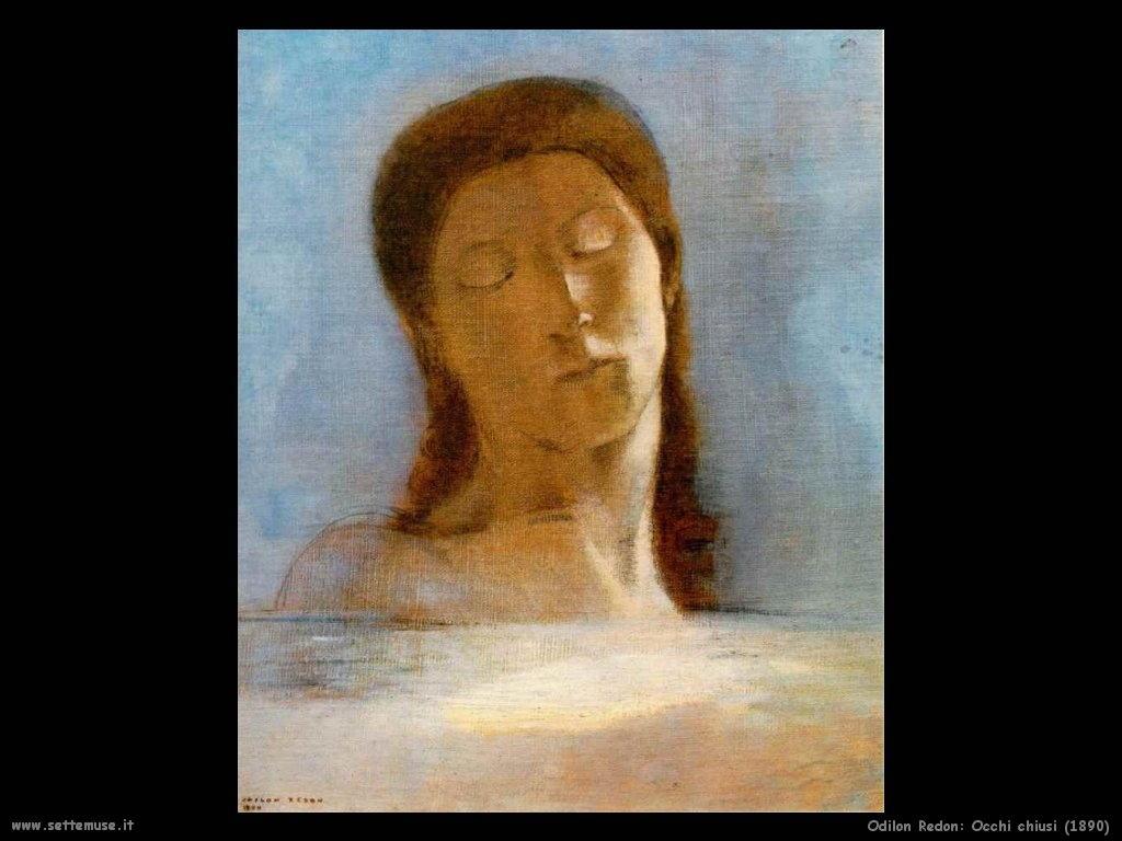 Odilon Redon_occhi_chiusi_1890