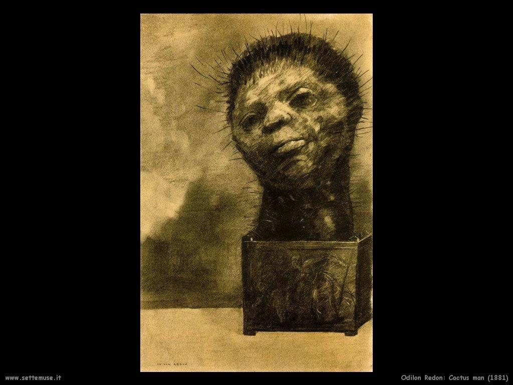 Odilon Redon cactus man 1881