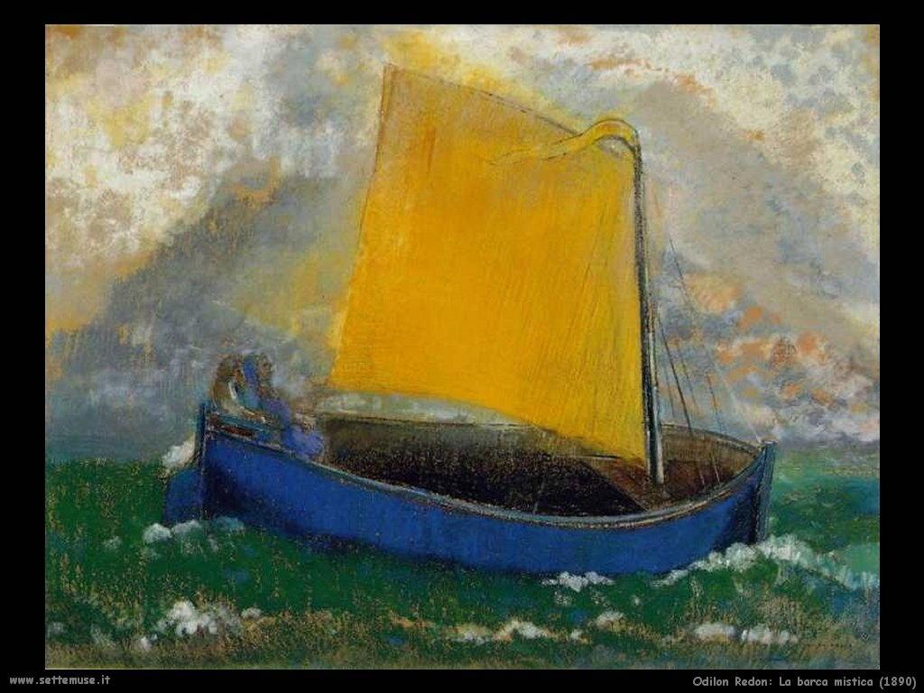 Odilon Redon_la_barca_mistica_1890