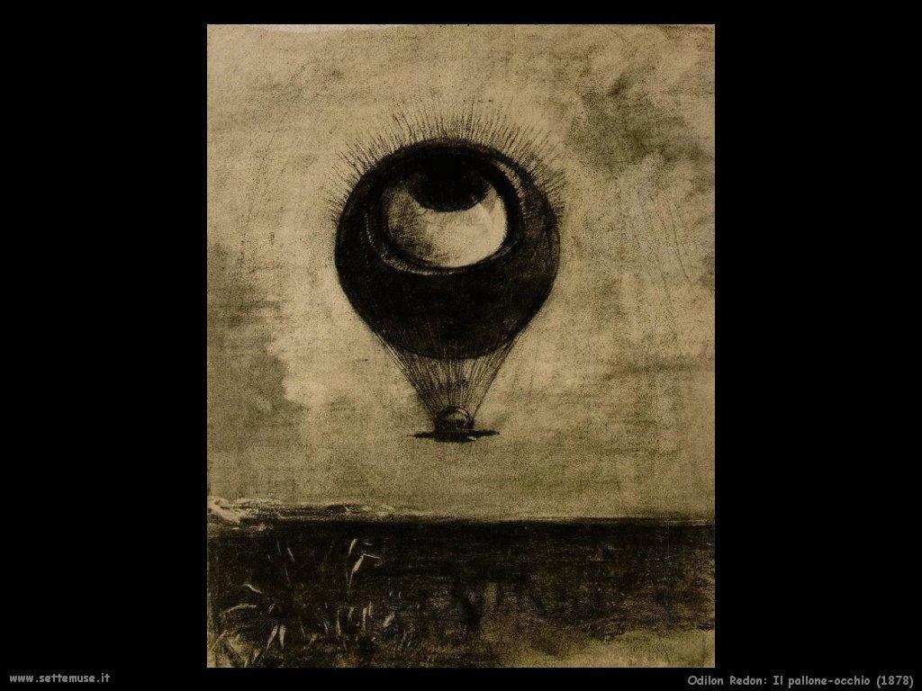 Odilon Redon il pallone occhio 1878