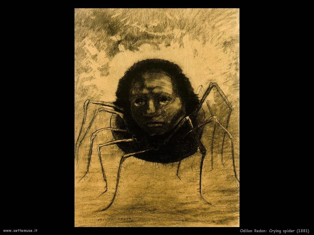 Odilon Redon Ragno che piange (1881)