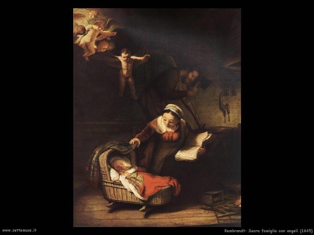 Rembrandt _sacra_famiglia_con_angeli_1645