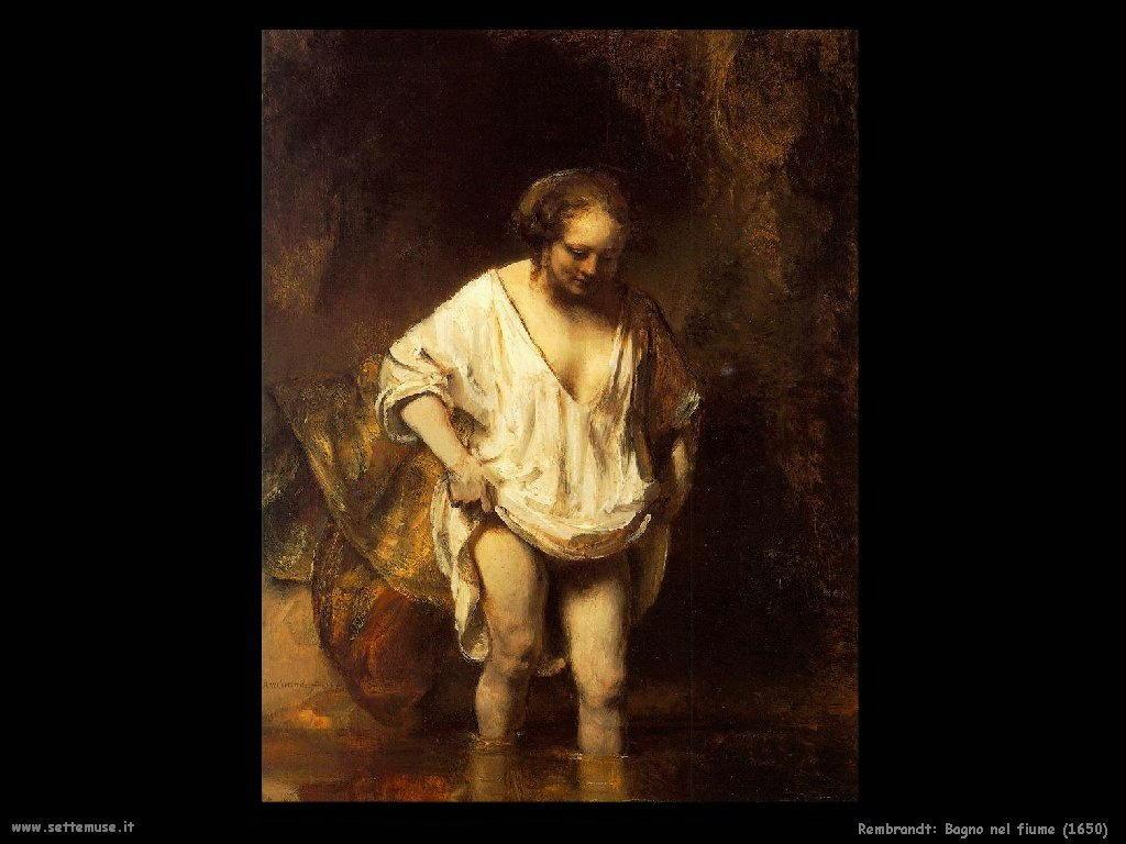 Rembrandt _bagno_nel_fiume_1650