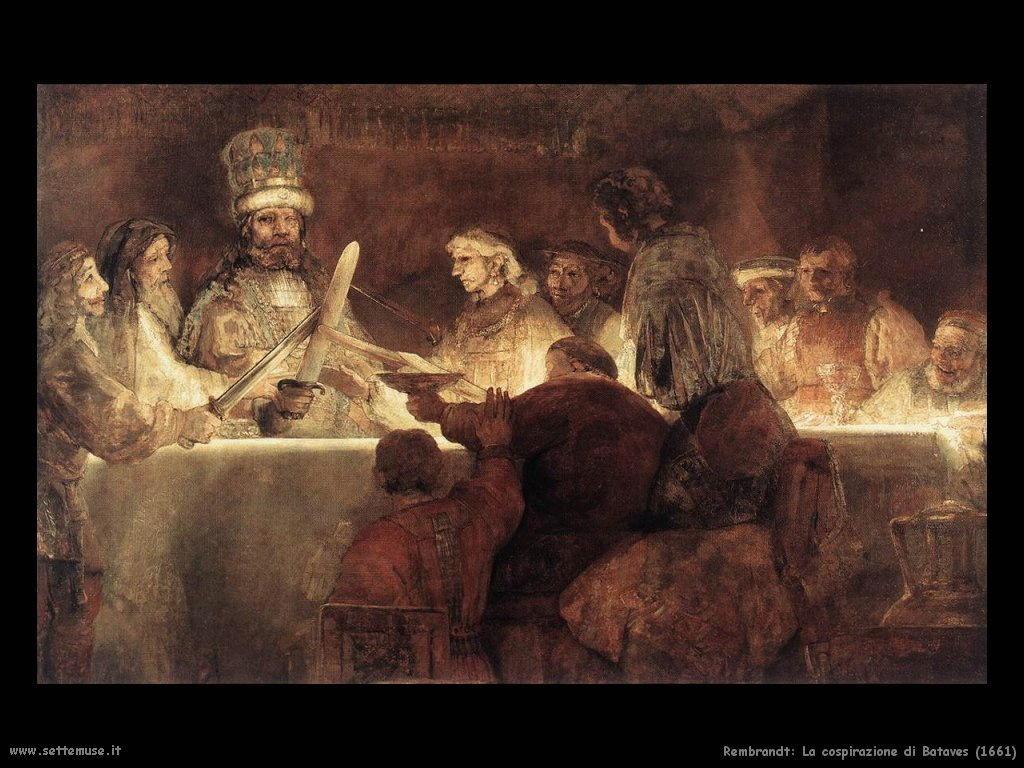 Rembrandt _la_cospirazione_del_bataves_1661