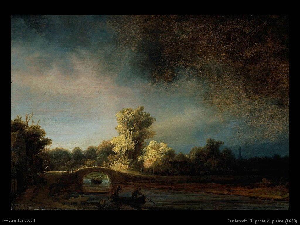 Rembrandt _il_ponte_di_pietra_1638