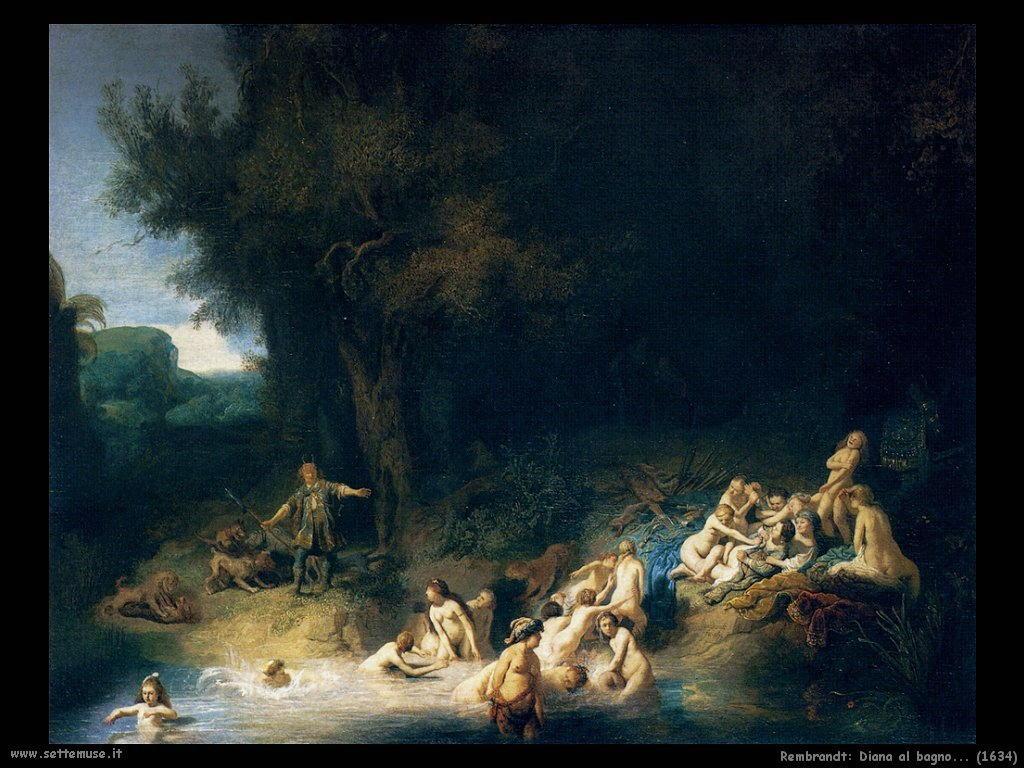 Rembrandt pittore biografia opere 2 - Il bagno di diana klossowski ...
