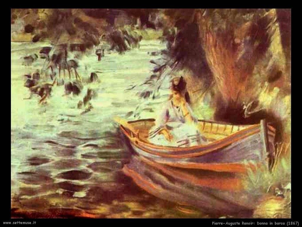 Pierre-Auguste Renoir _donna_in_barca