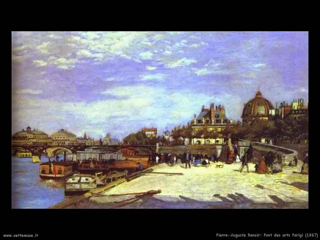 1867_pont_des_arts_parigi Pierre-Auguste Renoir