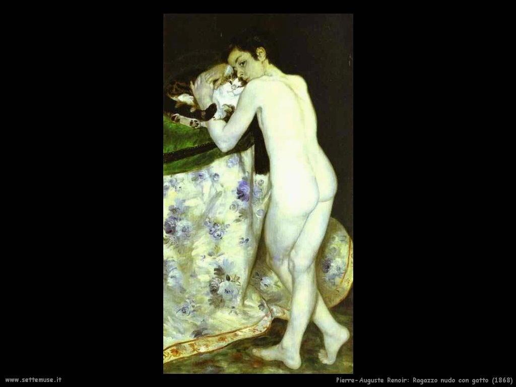 ragazzo_con_gatto Pierre-Auguste Renoir
