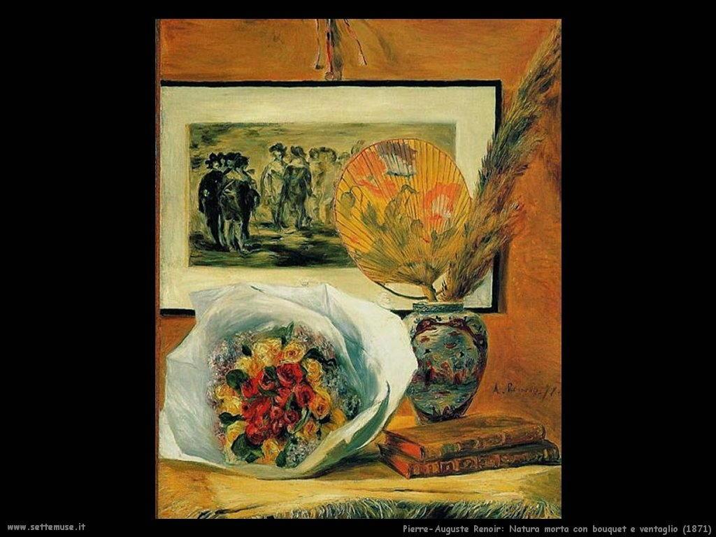 1871_natura_morta_con_bouquet_e_ventaglio Pierre-Auguste Renoir