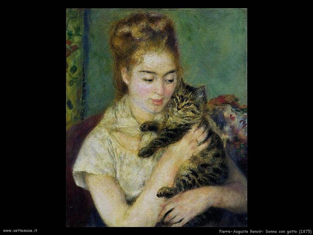 Pierre-Auguste Renoir_donna_con_gatto
