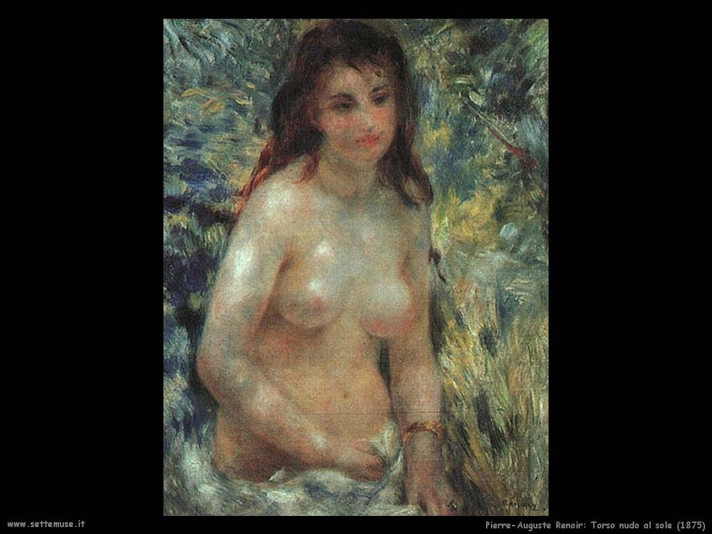 torso nudo al_sole Pierre-Auguste Renoir