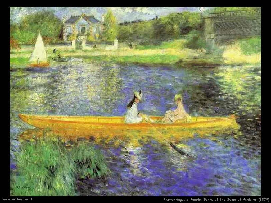 Pierre-Auguste Renoir Le rive della Senna a Asnières