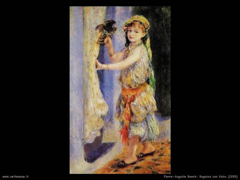 Pierre-Auguste Renoir ragazza_con_falco