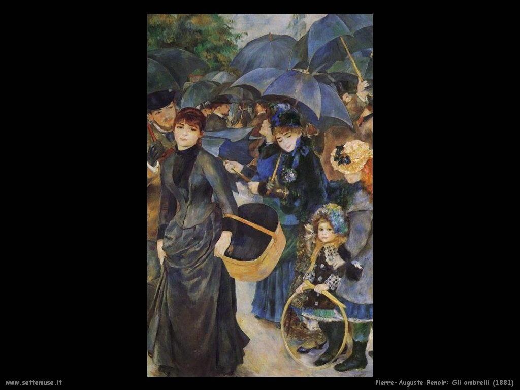 Pierre-Auguste Renoir _gli_ombrelli