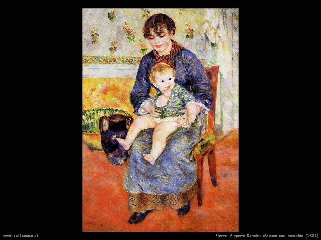Pierre-Auguste Renoir _mamma_con_bambino