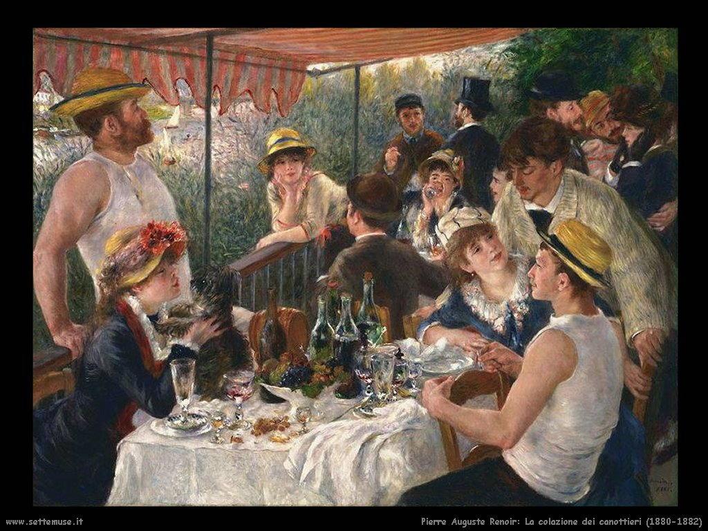 Renoir la colazione dei canottieri (1882)