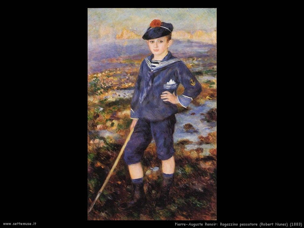 Pierre-Auguste Renoir ragazzino_pescatore_robert_nunes