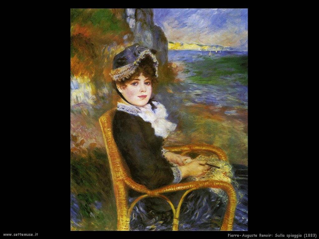 Pierre-Auguste Renoir sulla_spiaggia