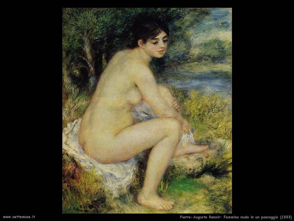 femmina_nuda_in_un_paesaggio Pierre-Auguste Renoir