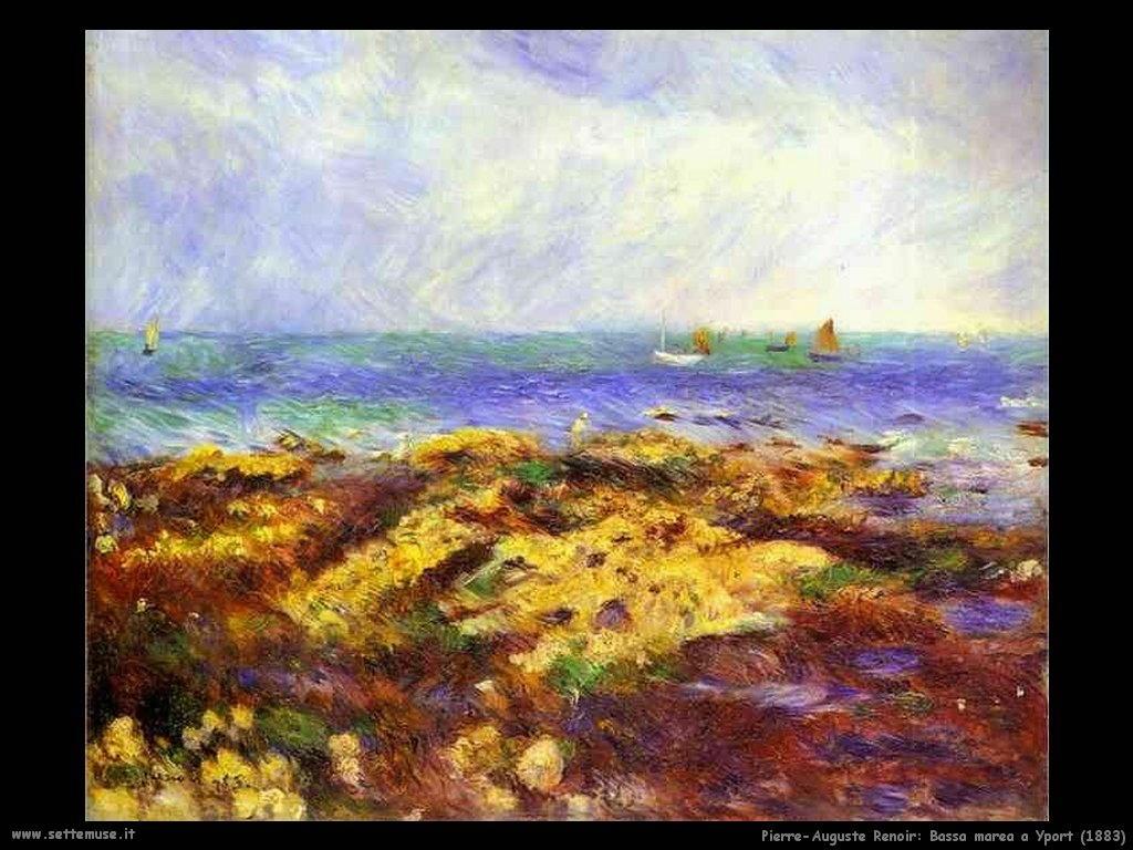 1883_bassa_marea_a_yport Pierre-Auguste Renoir