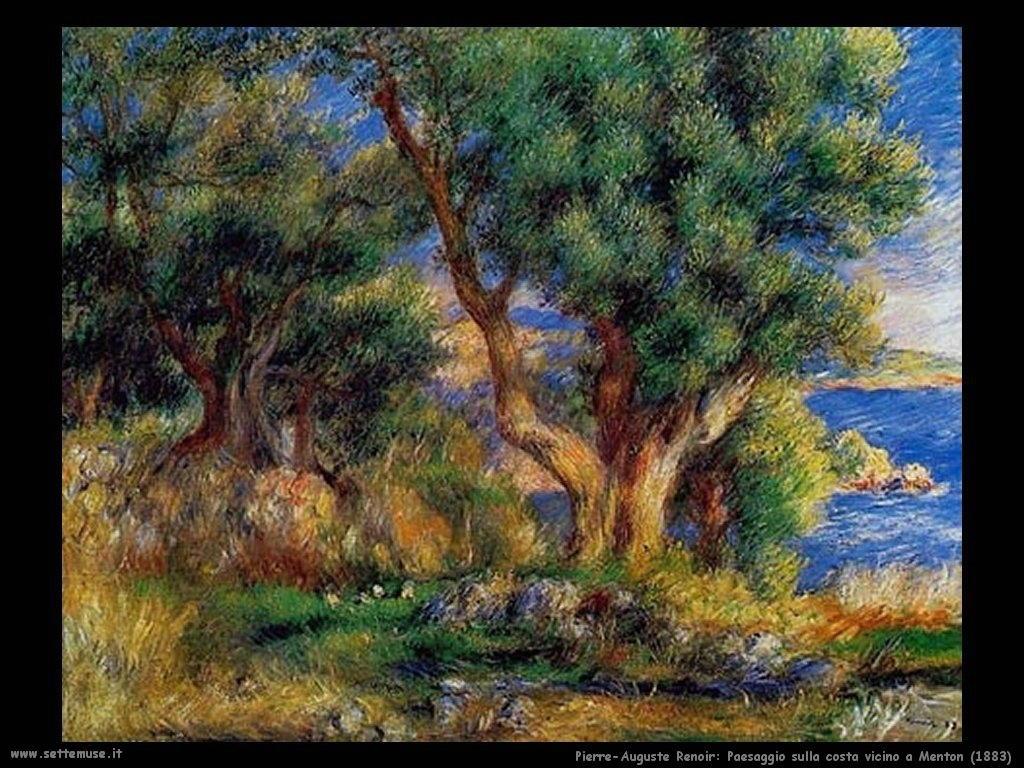 1883_paesaggio_sulla_costa_vicino_menton Pierre-Auguste Renoir