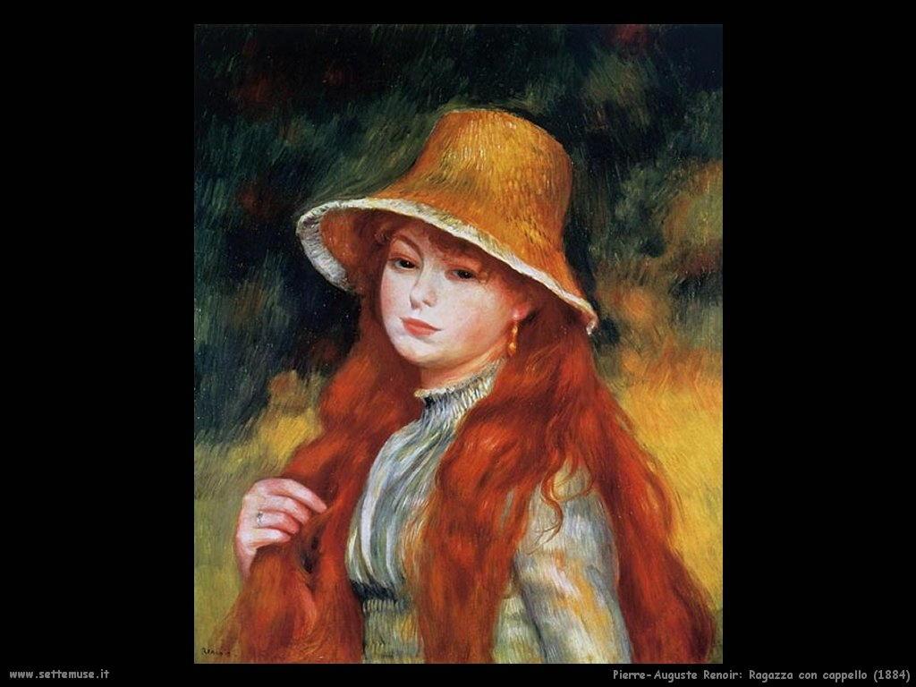 Pierre-Auguste Renoir_ragazza_con_cappello