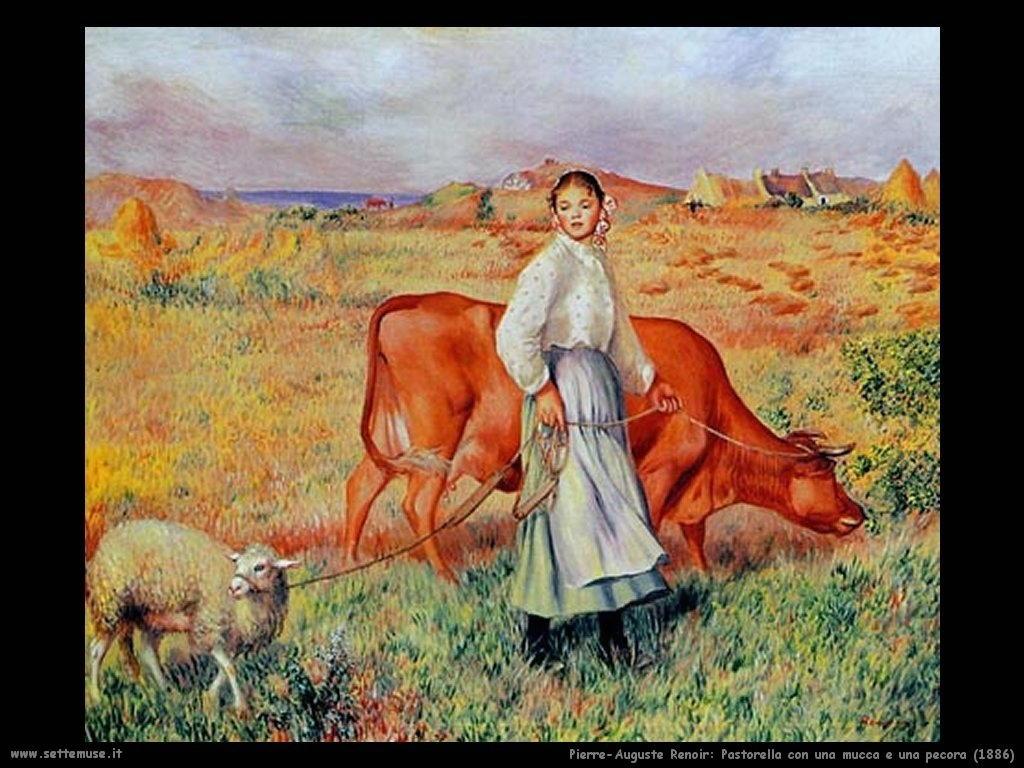 Pierre-Auguste Renoir_pastorella_mucca_pecora