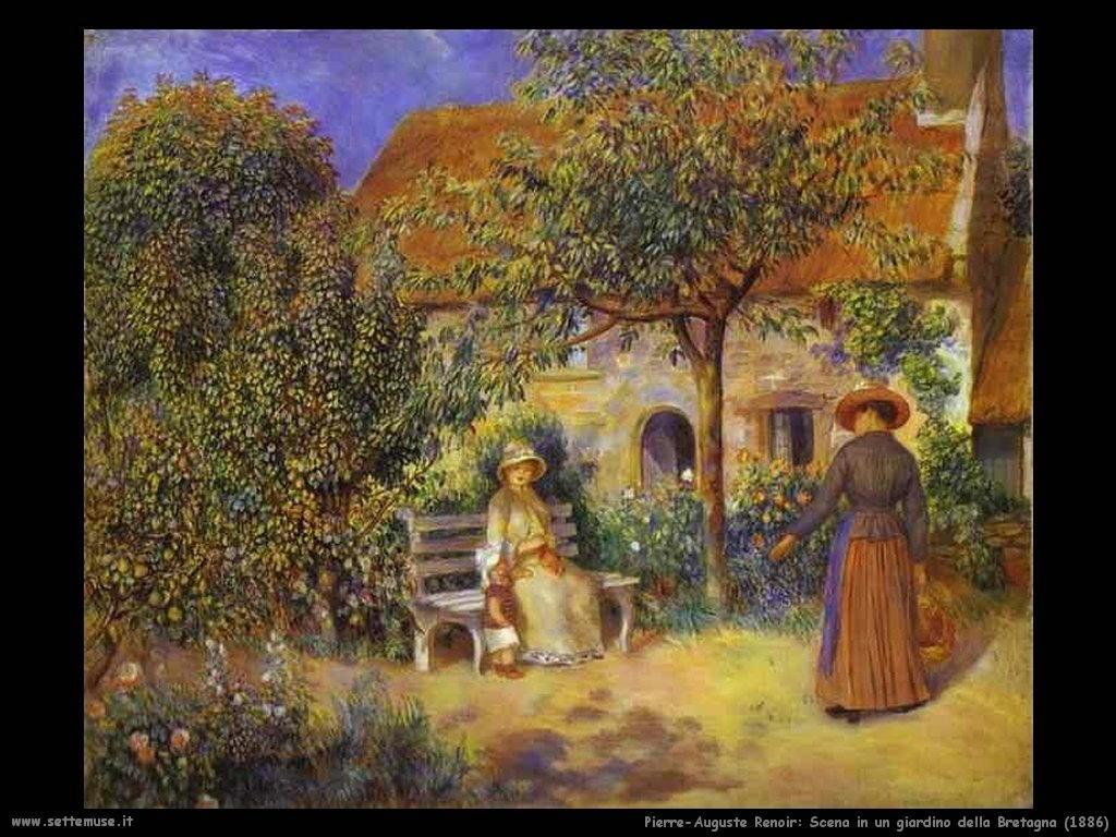 Pierre-Auguste Renoir _scena_in_giardino_della_bretagna