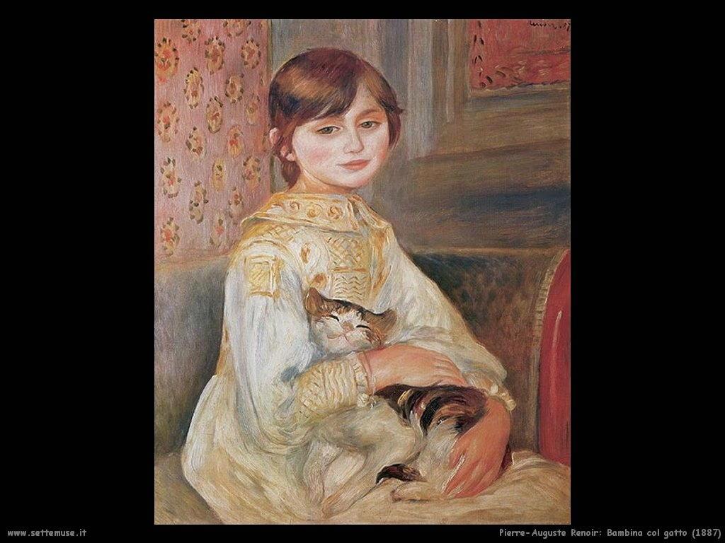 Pierre-Auguste Renoir_bambina_con_gatto