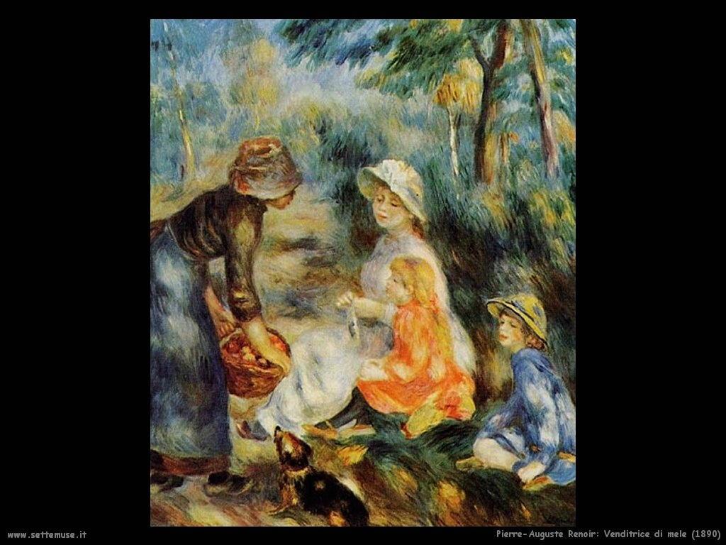 Pierre-Auguste Renoir _venditrice_di_mele