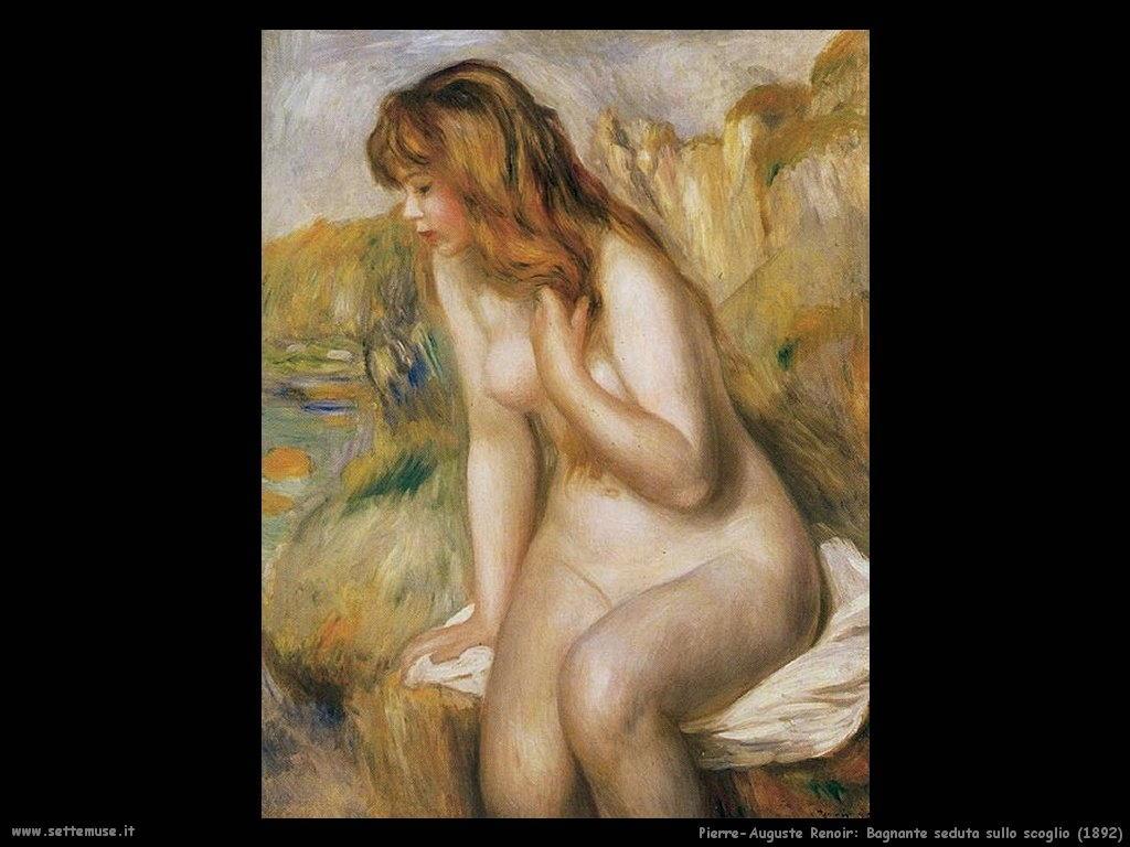 1892_bagnante_seduta_sullo_scoglio Pierre-Auguste Renoir