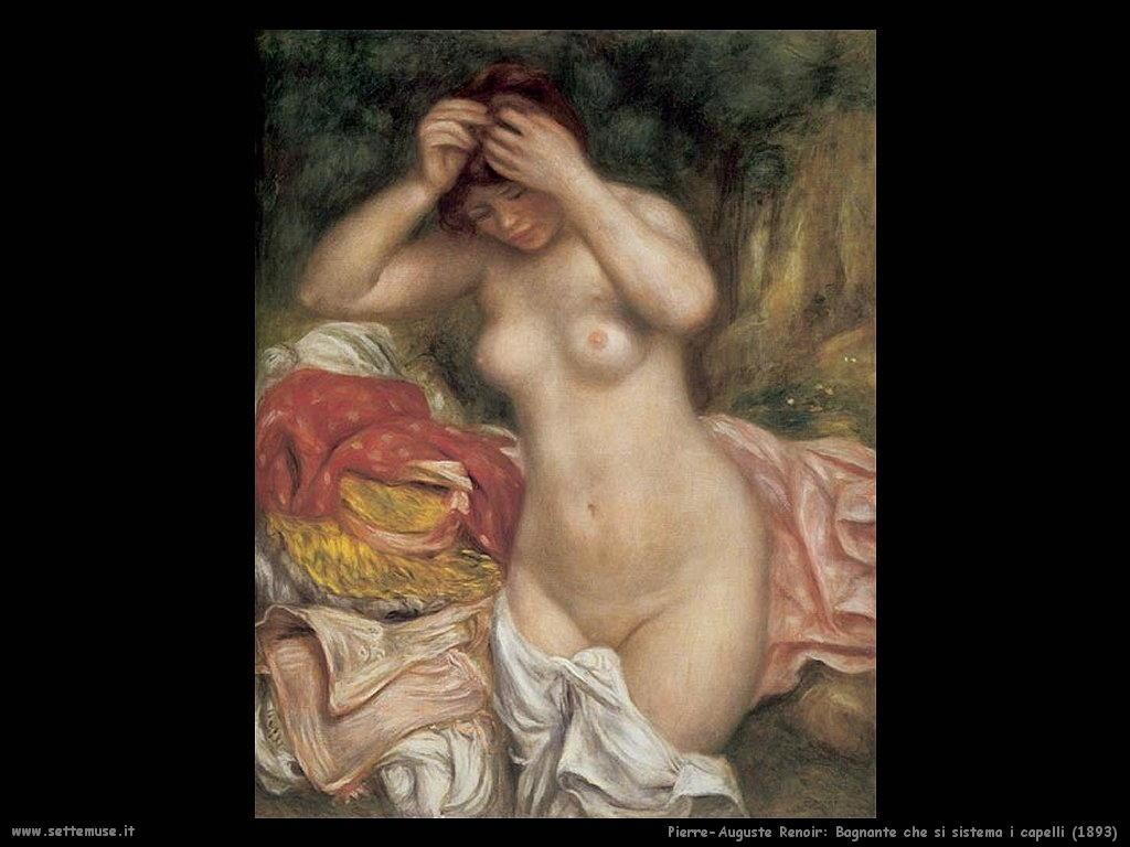 1893_bagnante_che_sistema_i_capelli Pierre-Auguste Renoir