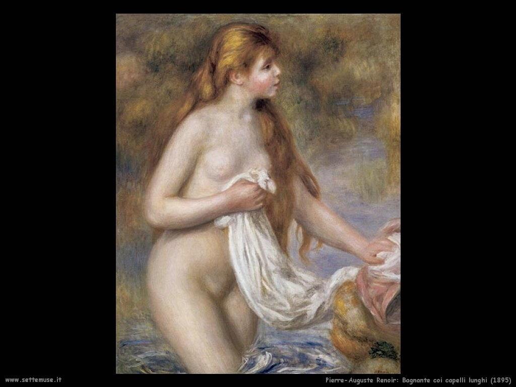 1895_bagnante_coi_capelli_lunghi Pierre-Auguste Renoir