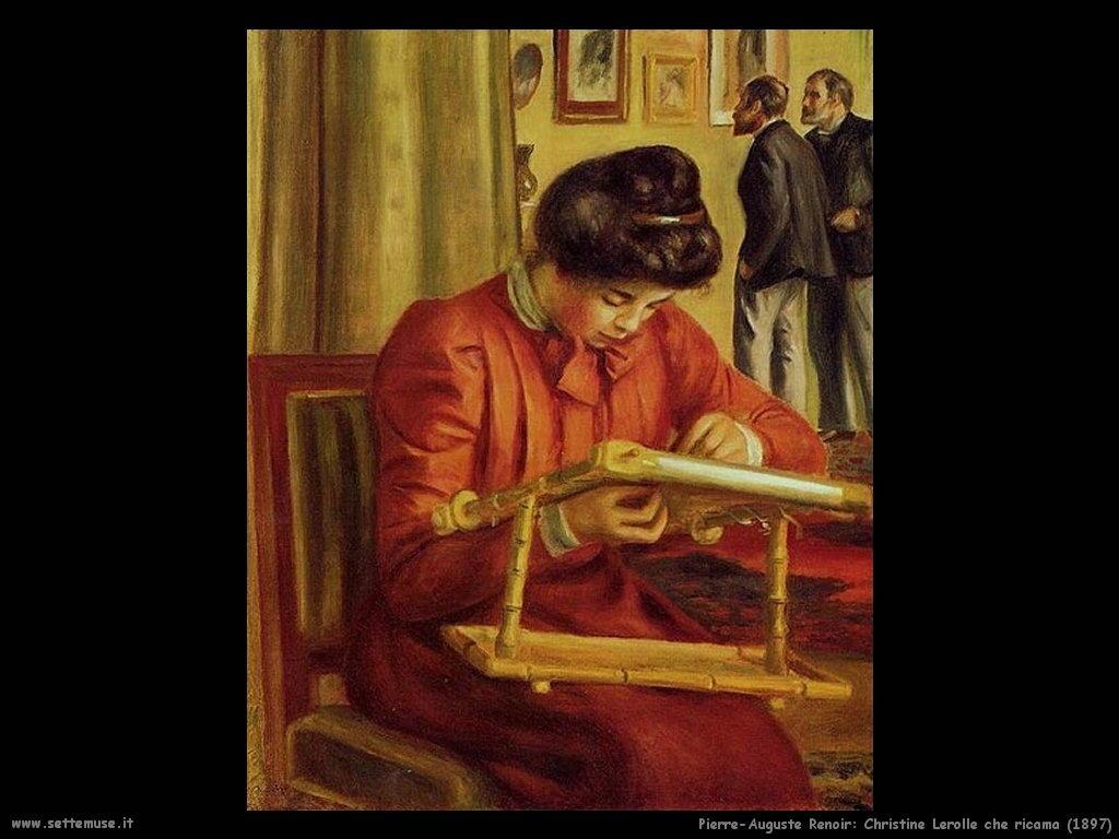 Pierre-Auguste Renoir_christine_lerolle_che_ricama