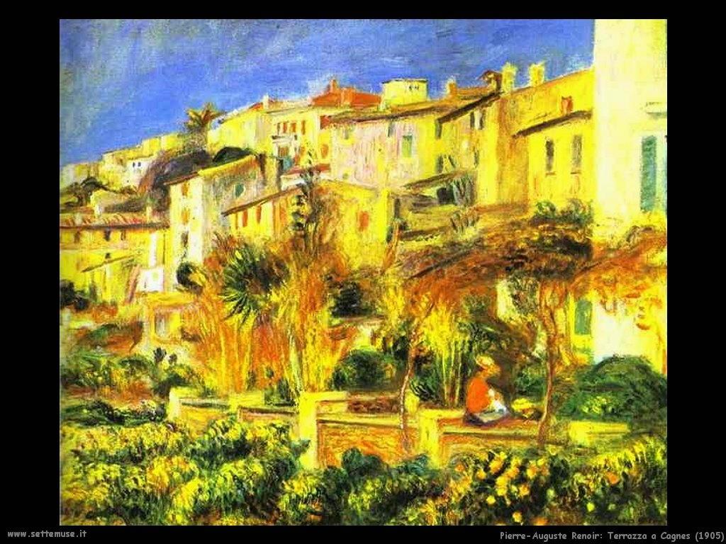 1905_terrazza_cagnes Pierre-Auguste Renoir