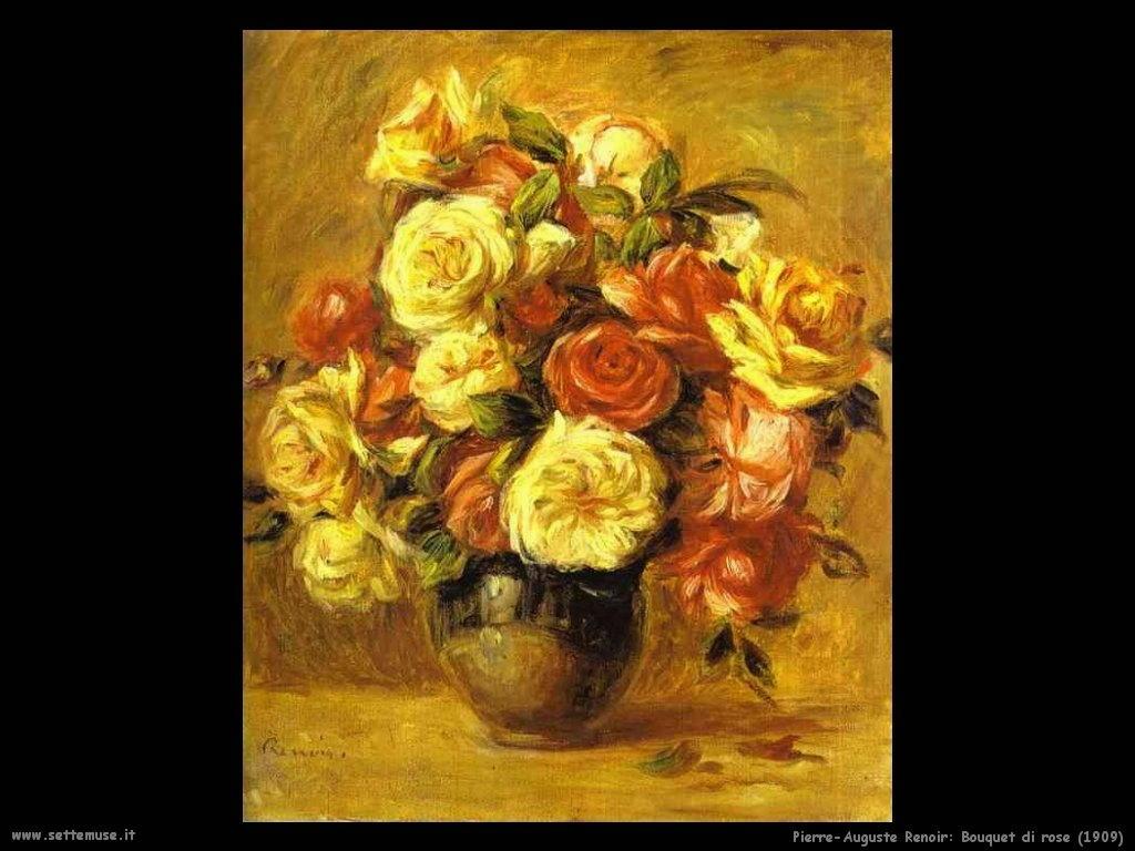1909_bouquet_di_rose Pierre-Auguste Renoir