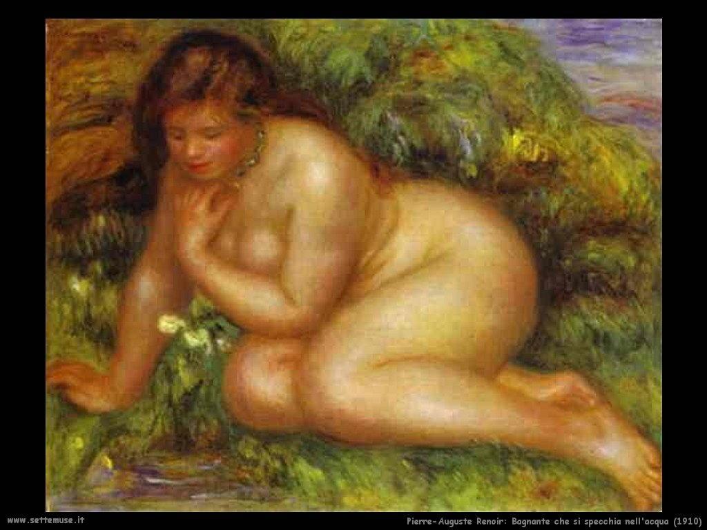 1910_bagnante_si_specchia_nell_acqua Pierre-Auguste Renoir