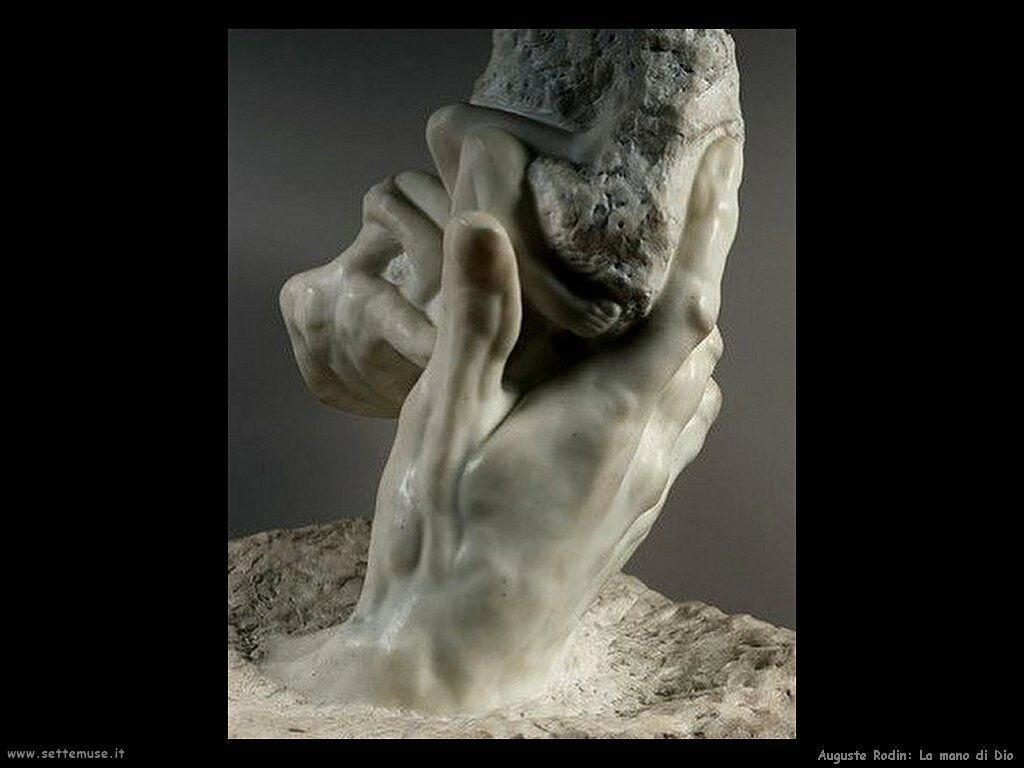 Auguste Rodin la mano di dio 1902