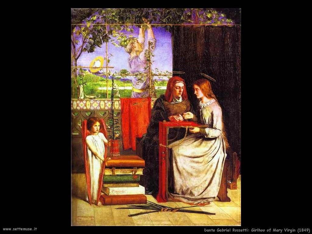 Gabriel Rossetti Gioventù di Maria Vergine (1849)